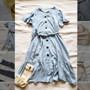 Cos Femme Light Blue Dress